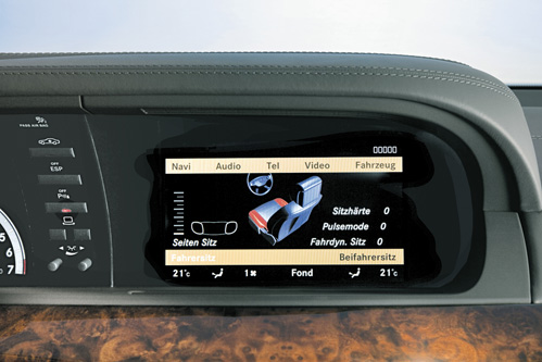 COMAND NTG3 in W220 S Class display picture